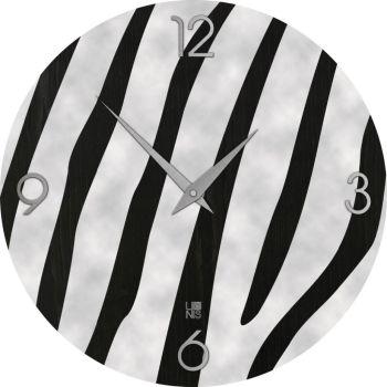 Zebra orologio parete Cold design moderno in legno intarsiato a mano