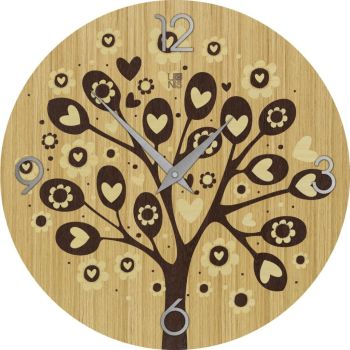 Tree Hearts Warm orologio design da parete per idea regalo