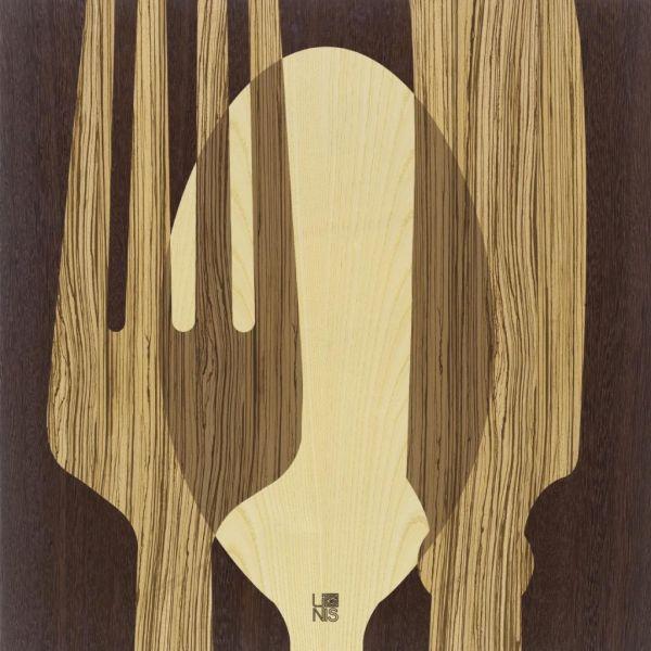 Quadro da cucina in legno Sovraposate Warm | Quadri intarsiati a ...