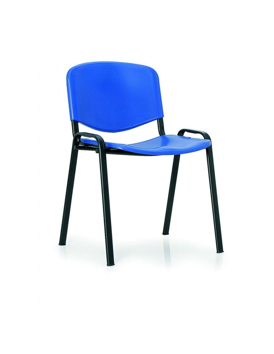 4 sedie per sala conferenza plastica braccioli tavoletta