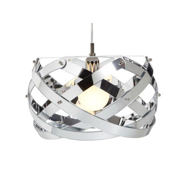 Lampadario sospensione design moderno in plexiglass Nuclea Cromo