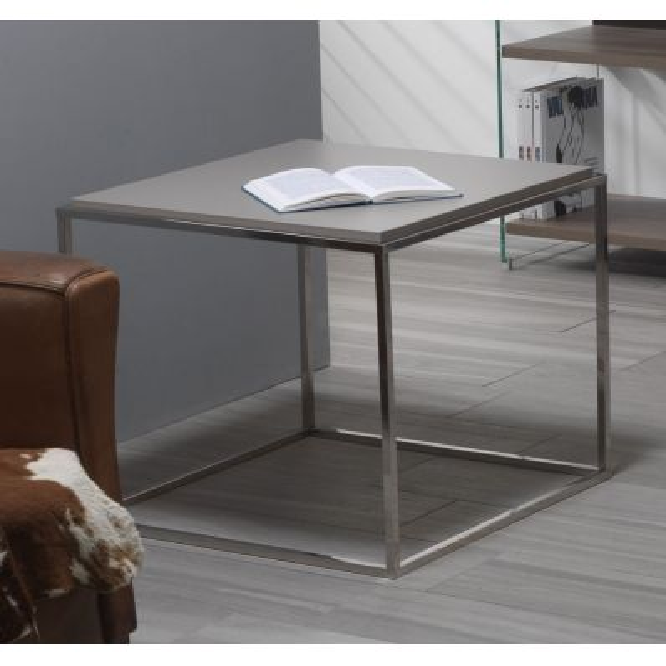 Tavolino da salotto quadrato in laminato 63 x 63 cm Lamina