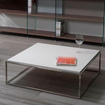 Tavolino basso da salotto Lamina in laminato 80 x 80 cm