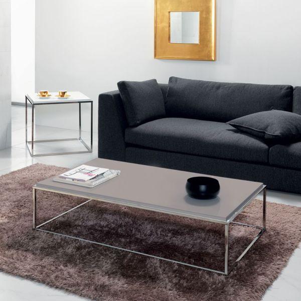 Tavolino Basso Per Salotto.Tavolino Da Salotto Rettangolare Lamina In Legno 120 X 60 Cm
