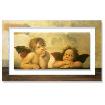 Quadro con cornice dipinta Raffaello Angeli