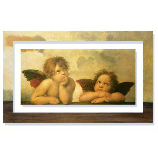 Quadro con cornice dipinta Raffaello Angeli quadri classici
