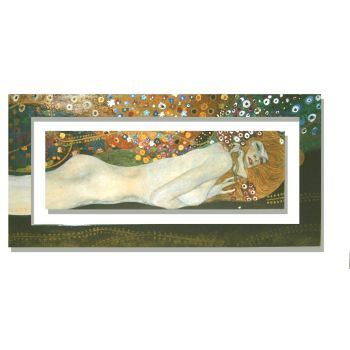 Quadro cornice dipinta Klimt Sea serpents 2