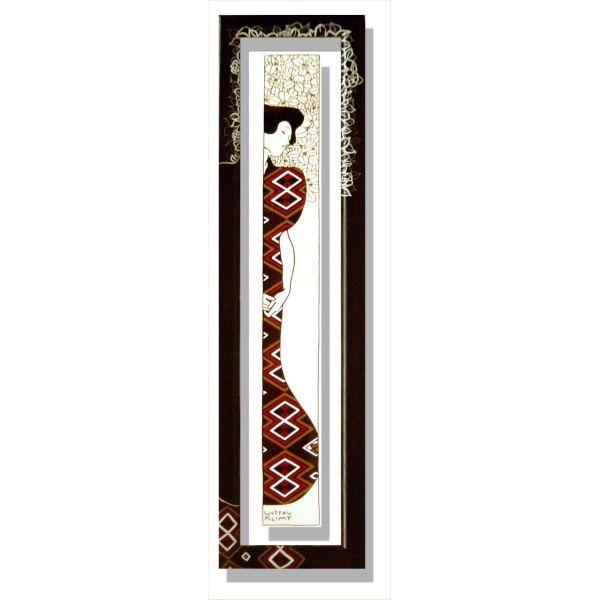 Quadri Klimt | Quadro verticale cornice dipinta Klimt Silhouette II