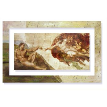 Quadro classico Michelangelo Creazione d'Adamo
