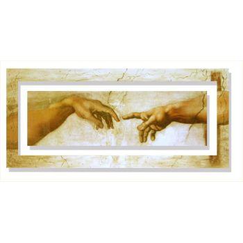 Quadro Michelangelo Creazione d'Adamo dettaglio