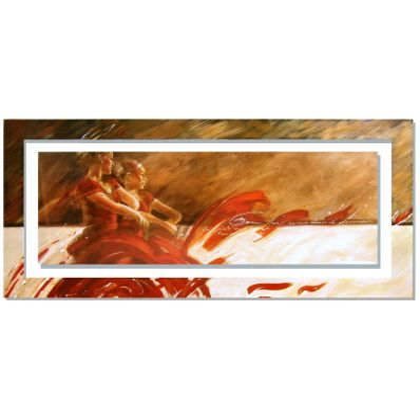 Quadro cornice dipinta Meijering Duo in red