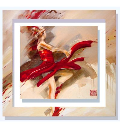 Quadro cornice dipinta a mano Meijering Lost in motion