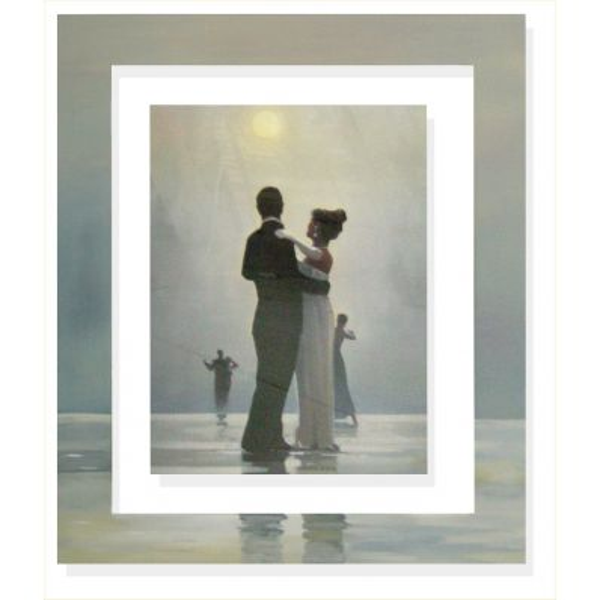 Quadro cornice dipinta a mano Vettriano Dance me to the end of life