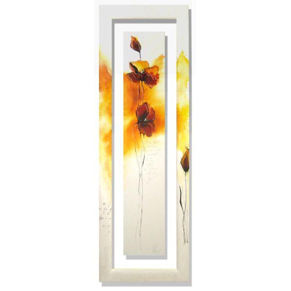Quadro verticale Isabelle Zacher-Finet Fleurs d'automne III