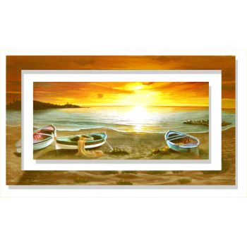 Quadro paesaggio mare Galasso Al calar del sole