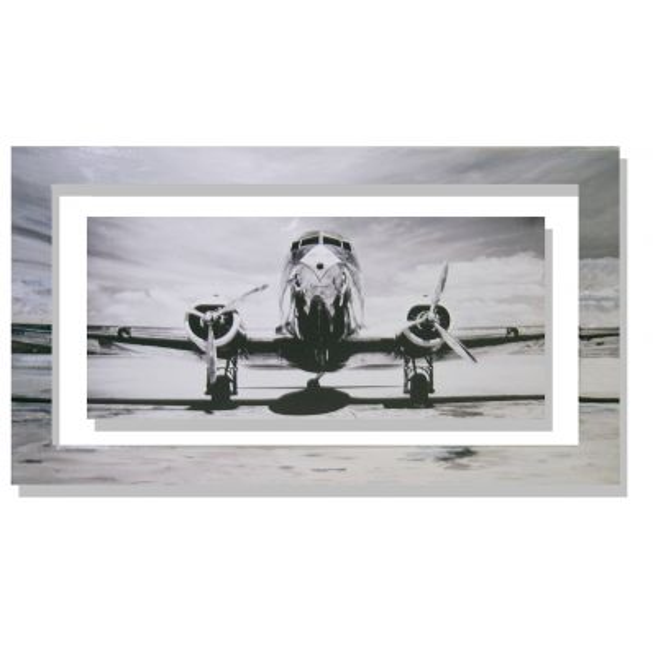 Quadro Gendreau Passenger airplane on runway