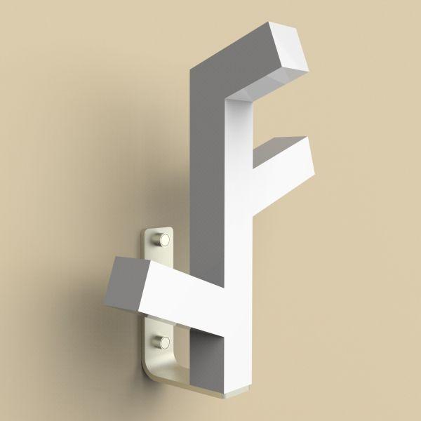 Attaccapanni parete in acciaio design moderno organica - Attaccapanni da parete design ...