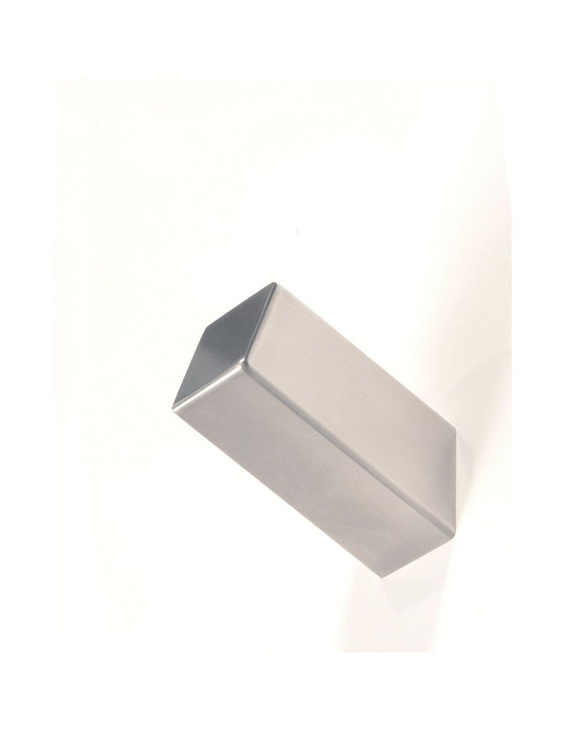 Appendiabiti A Muro In Acciaio.Appendiabiti Acciaio Da Parete Satinato O Lucido Cube