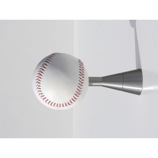 Attaccapanni a muro moderno in alluminio a forma di pallina Baseball
