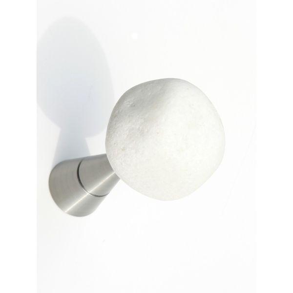 Appendiabiti a muro con pietra naturale Stones Bianco