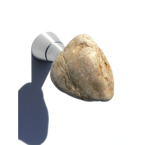 Attaccapanni a muro in alluminio e sasso naturale Stones Senape