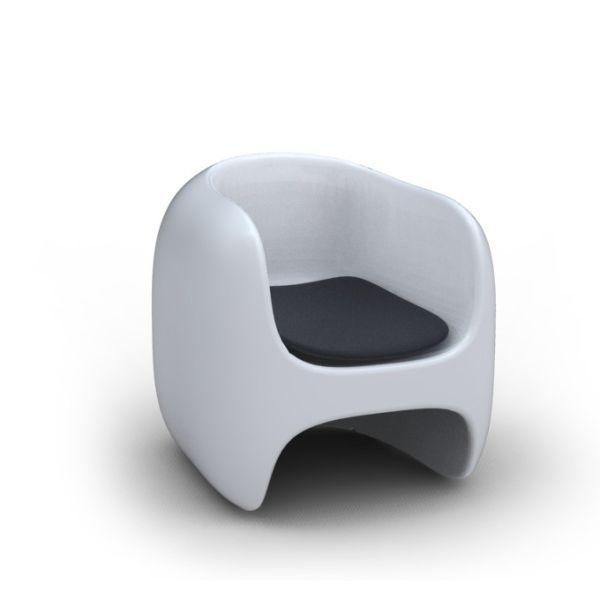 Poltrona moderna Apple per arredo soggiorno
