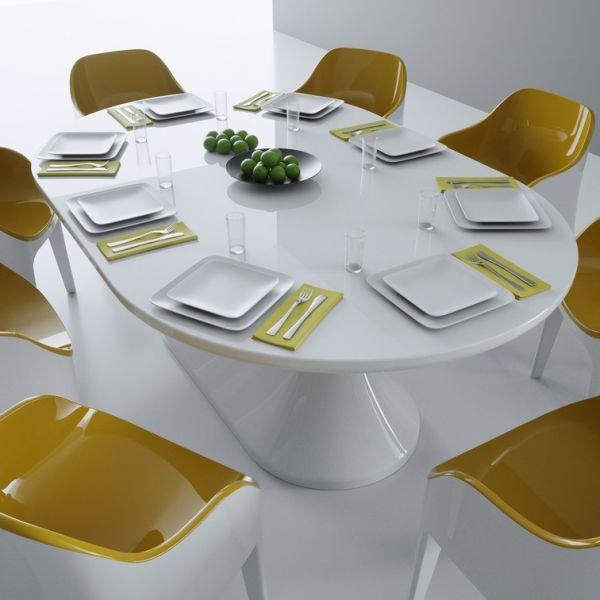 Tavolo moderno lunch in adamantx per sala da pranzo o for Tavolo sala da pranzo bianco