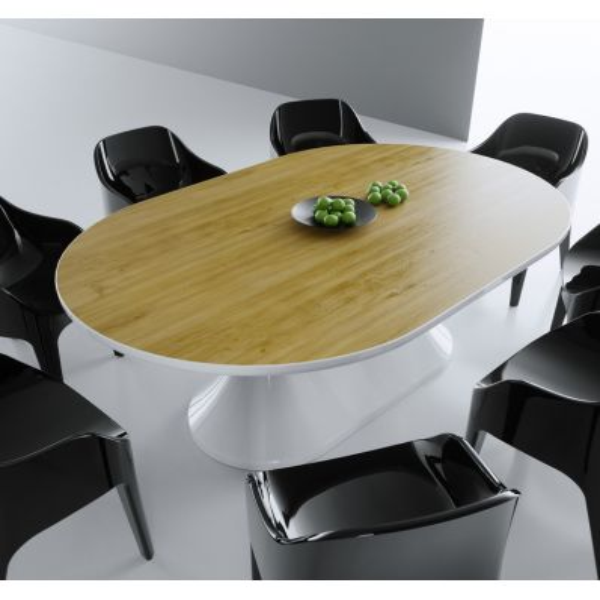 Tavolo moderno lunch per sala da pranzo o per riunioni ufficio for Tavoli da sala da pranzo moderni
