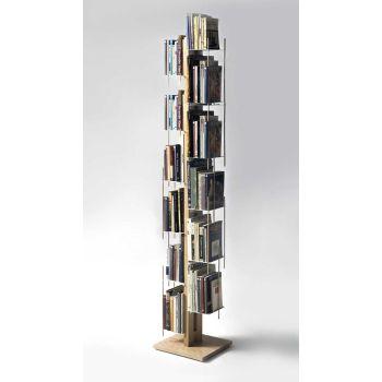 Libreria a colonna Zia Veronica da terra in legno massello