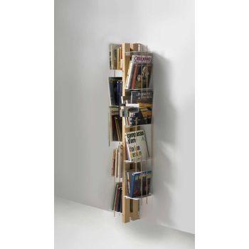 Libreria da parete a colonna in legno Zia Veronica