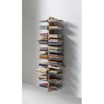 Libreria da muro ZiaBice salvaspazio in legno massello 150 | 195 cm