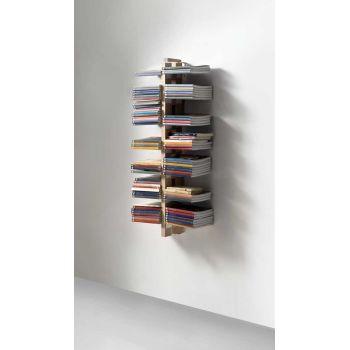 Libreria sospesa ZiaBice a parete salvaspazio in legno 60 | 105 cm