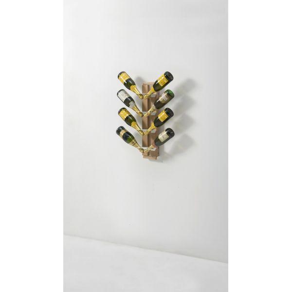 Portabottiglie per vino in legno sospeso da parete zia for Gaia case in legno