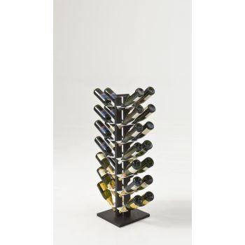 Portabottiglie Zia Gaia Bifacciale a colonna in legno per 16 | 28 | 40 bottiglie