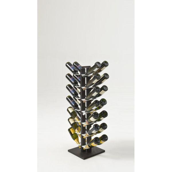 Portabottiglie vino design in legno per 16|28|40 bottiglie Zia Gaia