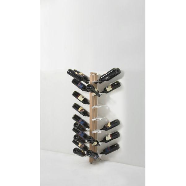 Portabottiglia da parete in legno per 28/40 bottiglie vino Zia Gaia