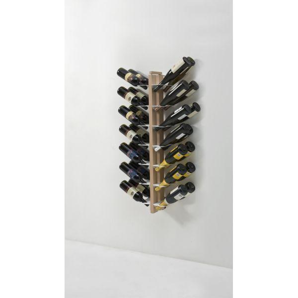 Portabottiglie vino da parete design in legno Zia Gaia Bifacciale