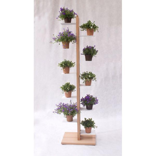 Portavasi verticale in legno per interni Zia Flora