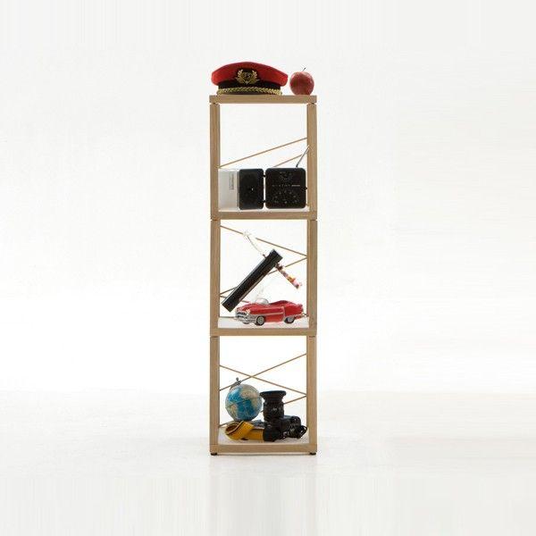 Libreria scaffale componibile in legno per arredo negozi Zia Babele Le Torri
