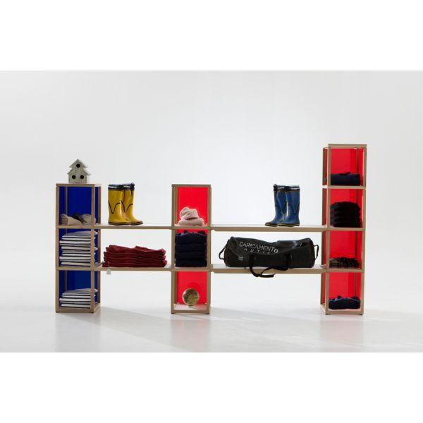 Scaffale per negozio design moderno in legno Castelli 2