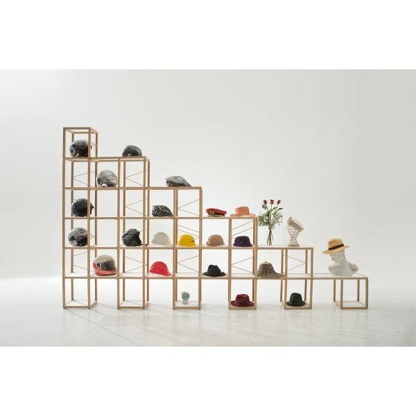 Scaffale per negozio design moderno in legno massello Castelli 8