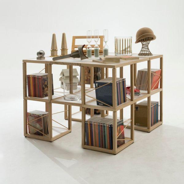 Libreria design moderno in legno Castelli 7