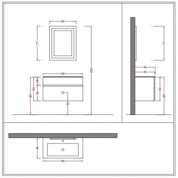 Composizione arredobagno completo gio2 mobili arredo for Mobili bagno su ebay