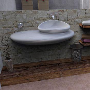 Stone lavabo bagno design moderno in resina 120 cm