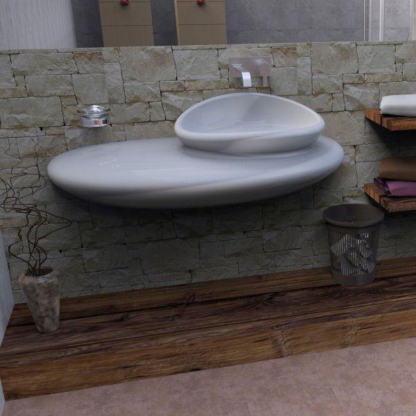 Stone lavabo bagno design moderno in resina 120 cm for Lavabo bagno resina
