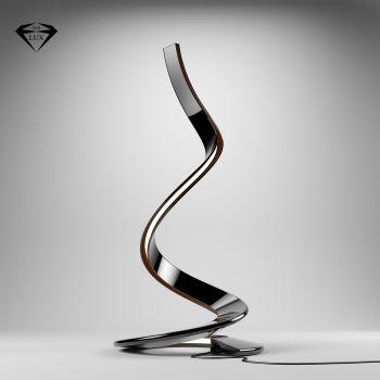 Python lampada da terra design moderno in resina adamantx