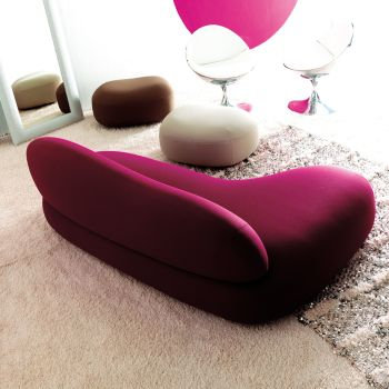 Divano Scoop con chaise longue penisola relax in tessuto 200 cm