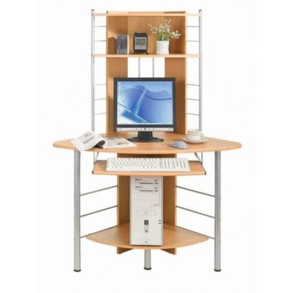 Scrivania angolare porta PC e stampante per casa o ufficio Angle