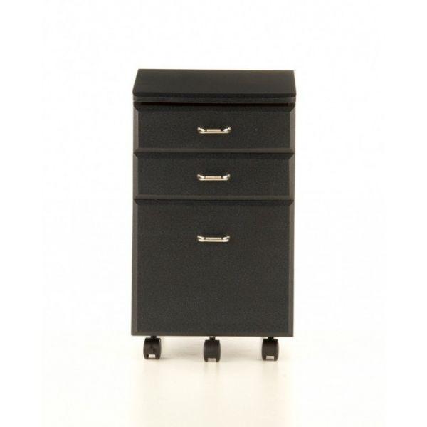 Cassettiera per ufficio in legno MDF su ruote colore Nero Grafite   eBay