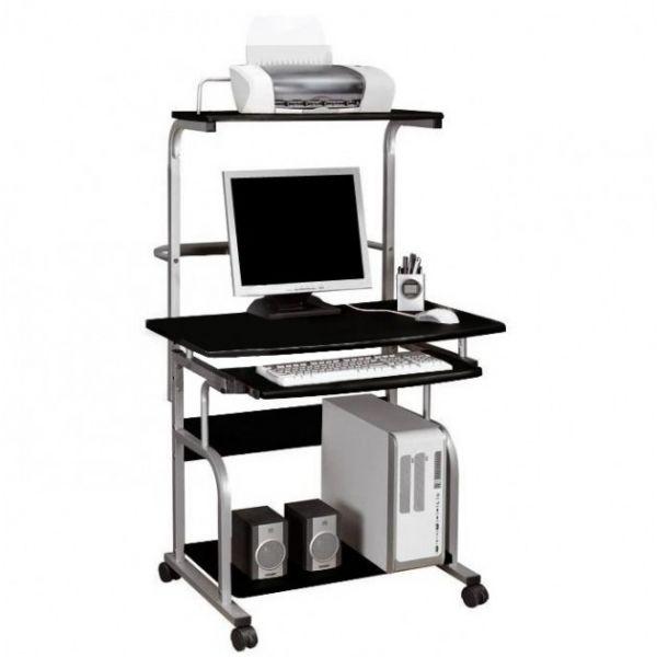 scrivania multifunzione porta pc su ruote compatta per